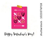 happy valentine's day .... | Shutterstock .eps vector #1023376918