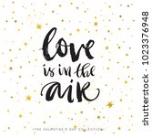love is in the air. valentines... | Shutterstock .eps vector #1023376948