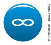infinity symbol icon vector... | Shutterstock .eps vector #1023378082