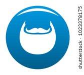 man beard icon vector blue...   Shutterstock .eps vector #1023378175