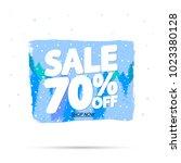 winter sale 70  off  discount... | Shutterstock .eps vector #1023380128