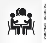 two people at the table icon ... | Shutterstock .eps vector #1023380152