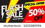 flash sale  50  off  special...   Shutterstock .eps vector #1023380596