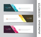 banner background. modern... | Shutterstock .eps vector #1023383725