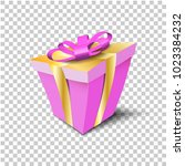 vector paper gift box pink... | Shutterstock .eps vector #1023384232