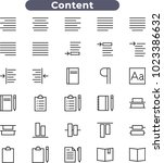 content icons set  content... | Shutterstock .eps vector #1023386632