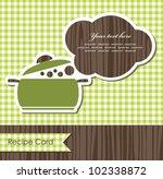 cookery card. vector...   Shutterstock .eps vector #102338872