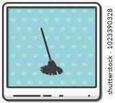 mop flat vector icon. floor... | Shutterstock .eps vector #1023390328