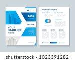 annual report  broshure  flyer  ... | Shutterstock .eps vector #1023391282