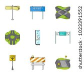 road junctions and signs and... | Shutterstock . vector #1023391552