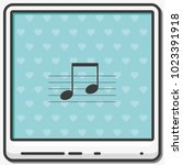 music note on stave flat vector ...   Shutterstock .eps vector #1023391918