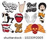 vector hand drawn collection of ... | Shutterstock .eps vector #1023392005