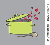 green kitchen pot with lid and...