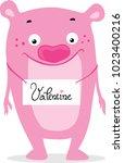 valentine character monster... | Shutterstock .eps vector #1023400216