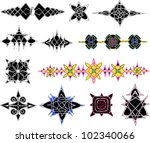 knot patterns. set of color and ... | Shutterstock .eps vector #102340066