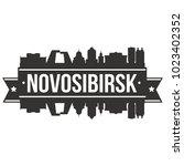 novosibirsk  russia skyline... | Shutterstock .eps vector #1023402352