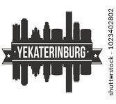 yekaterinburg  russia skyline...   Shutterstock .eps vector #1023402802