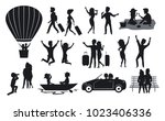 silhouettes collection of men... | Shutterstock .eps vector #1023406336