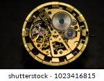 mechanical watch  gears  gold... | Shutterstock . vector #1023416815