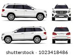 big car. front view  side view  ... | Shutterstock .eps vector #1023418486
