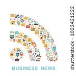 business icons are grouped in... | Shutterstock .eps vector #1023421222