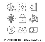 set of communication  minimize...   Shutterstock .eps vector #1023421978
