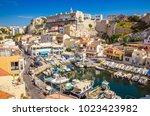 the vallon des auffes   fishing ... | Shutterstock . vector #1023423982