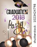 graduation party invitation... | Shutterstock .eps vector #1023424798