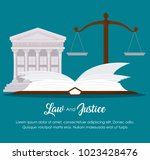 law and justice design | Shutterstock .eps vector #1023428476
