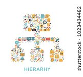 business icons are grouped in... | Shutterstock .eps vector #1023434482