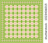 vector geometric pattern for... | Shutterstock .eps vector #1023436015