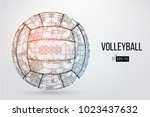 silhouette of a volleyball ball.... | Shutterstock .eps vector #1023437632