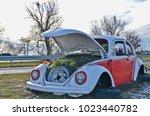 budapest  hungary   december 23 ... | Shutterstock . vector #1023440782