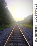 railroad in tennessee backwoods | Shutterstock . vector #1023444328