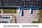 aerial view of goods warehouse. ... | Shutterstock . vector #1023449962