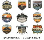 set of vintage hand drawn... | Shutterstock .eps vector #1023455575