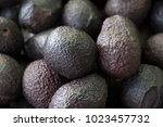 looking down on a pile of fresh ... | Shutterstock . vector #1023457732