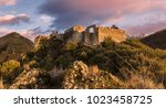 image of beautiful castle... | Shutterstock . vector #1023458725