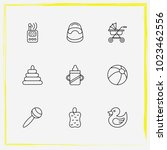 baby care line icon set bast ... | Shutterstock .eps vector #1023462556