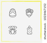 baby care line icon set rattle  ... | Shutterstock .eps vector #1023467152
