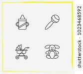 baby care line icon set... | Shutterstock .eps vector #1023468592