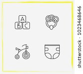 baby care line icon set rattle  ... | Shutterstock .eps vector #1023468646