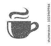 chocolate drink icon in grunge... | Shutterstock .eps vector #1023469966