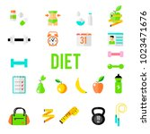 fitness and sport vector icons