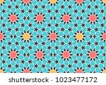 seamless pattern in authentic... | Shutterstock .eps vector #1023477172