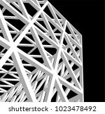 architecture 3d construction | Shutterstock .eps vector #1023478492