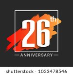 26th anniversary design with... | Shutterstock .eps vector #1023478546