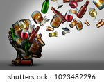 alcohol education and awareness ...   Shutterstock . vector #1023482296