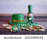 saint patricks day  with lucky... | Shutterstock . vector #1023490435