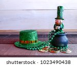 saint patricks day  with lucky... | Shutterstock . vector #1023490438